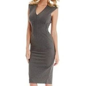 NEW Guess by Marciano Gray Ponte Midi Dress Size 0